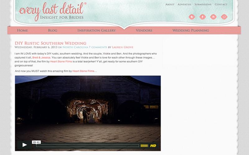 Every Last Detail Feature | Fearrington Village Wedding | Vickie + Ben