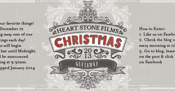 Heart Stone Films 2013 Christmas Giveaway
