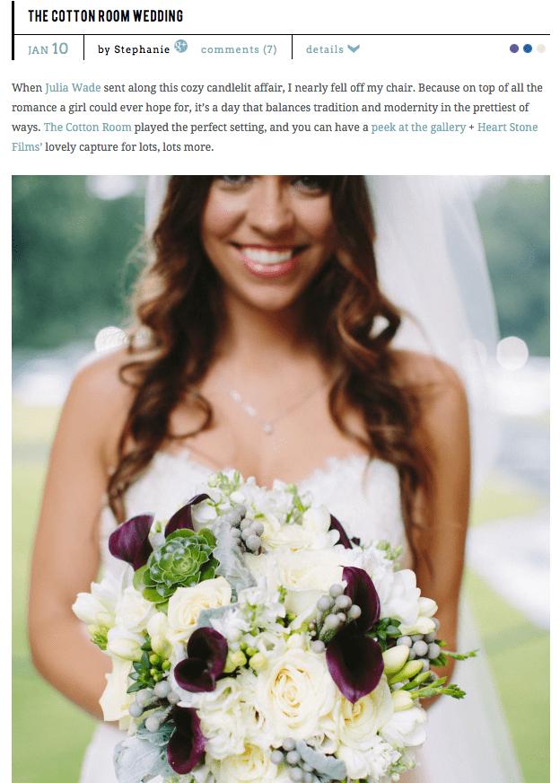 STYLE ME PRETTY FEATURE | SUSAN + JUSTIN | DUKE CHAPEL & COTTON ROOM WEDDING FILM