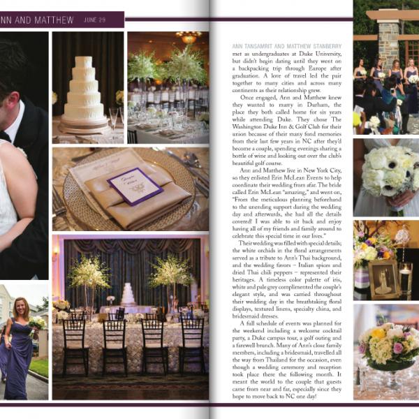 Washington Duke Inn wedding in Durham, NC | Ann + Matt Featured in Southern Bride and Groom