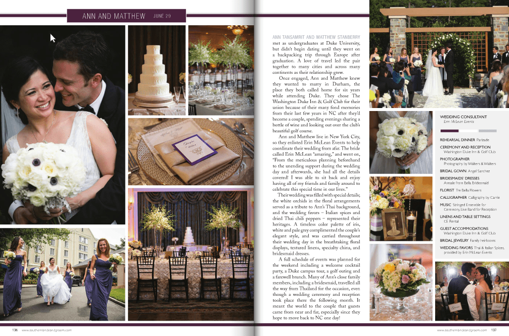 Washington Duke Inn wedding in Durham, NC | Ann + Matt Featured in Southern Bride and Groom