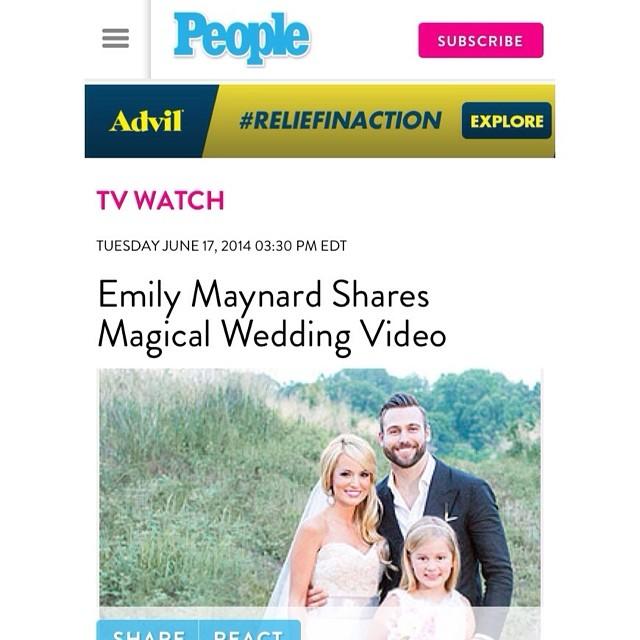 Emily maynard shares romantic wedding video by heart stone films tags abc publicscrutiny Gallery