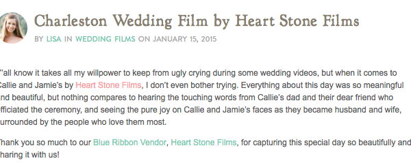 Southern Weddings :: A Charleston Wedding Film by Heart Stone Films