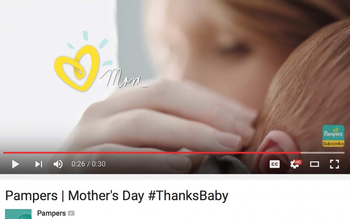 Pampers | Mother's Day #ThanksBaby